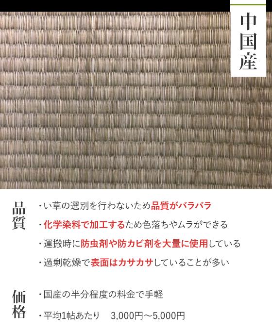 中国産の畳